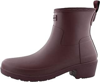 Women's Refined Low Heel Ankle Biker Rain Boots