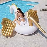 JINYIWEN Anillo de natación 250 cm Gigante Unicornio Flotador de Piscina colchón Inflable...