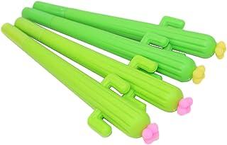 MoGist 4 bolígrafos de Gel Forma de Cactus, Color Verde