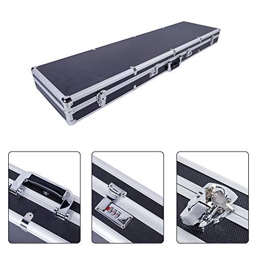 Binrrio Aluminum Rifle Gun Hard Case Locking Long Gun Handgun Lock Box Quadruple Protection Safe Waterproof Portable Gun Carrying Case with 2 Key & 2 Password Lock 53.14'' x 13.77'' x 4.72