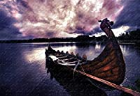 Vikings Boat 1000 Piece Jigsaw Puzzle 29.5 X 19.6' Wood-Material