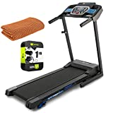 XTERRA Fitness 100819 TRX1000 Folding Treadmill with Transportation Wheels Bundle with 1 Year Extended Protection Plan and Deco Gear Workout Cooling Sport Towel