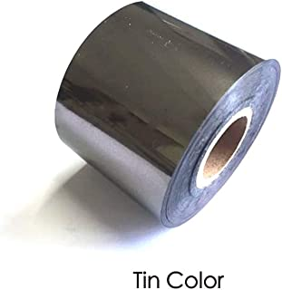Hot Foil roll Stamping Gilt Paper Heat Transfer Anodized Gilded Paper 120M (Tin, Width : 1.5