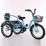 M-YN Triciclo Adulto Bicicletas de Tres Ruedas for niños Niñas, Triciclo 16 18...