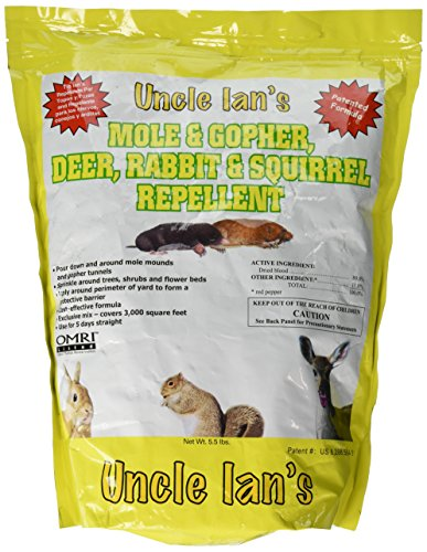 Uncle Ians 100045827 Mole & Gopher, Deer, Rabbit & Squirrel Repellent, 5.5 lb