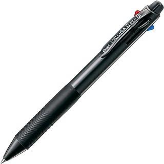 Pentel Ballpoint Pen Vicuna, Extra Fine, Black, Red, Blue, Green, Black (BXC45A)
