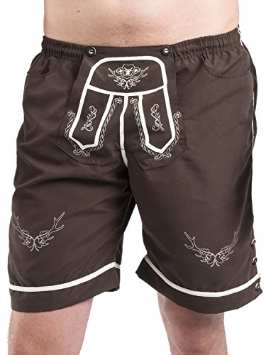 Trachten Badehose - Hopfen & Malz - Lederhose - Trachtenbadehose - Trachten Shorts - Badeshort (S)