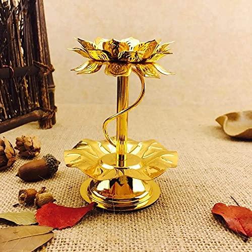 Portacandele portacandele Portalampada in alluminio da 4 pollici Portacandele dedicato Lotus per portacandele ghia Candelabro Evento nuziale (Colore: Oro, Taglia: Taglia unica)