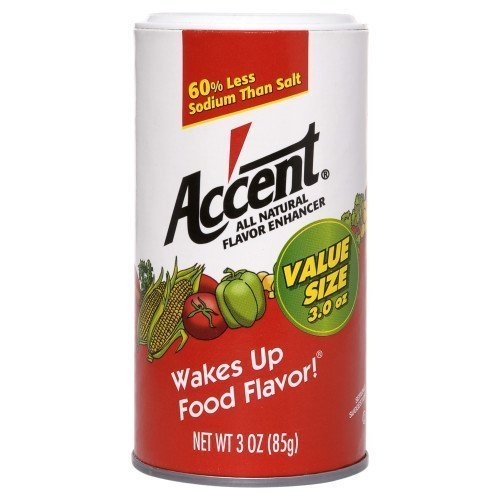ACCENT FLAVOR SEASONING SPICE ALL NATURAL FOOD ENHANCER 3 OZ by ACCENT At The Neighborhood Corner Store