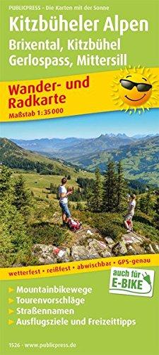 Kitzbüheler Alpen, Brixental - Kitzbühel, Gerlospass - Mittersill: Wander- und Radkarte mit Ausflugszielen & Freizeittipps, wetterfest, reißfest, ... 1:35000 (Wander- und Radkarte / WuRK)
