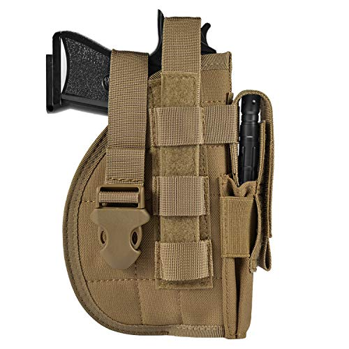 DYJ Adjustable Right Handed Tactical Molle Modular, Coyote Brown, Size No Size, Large