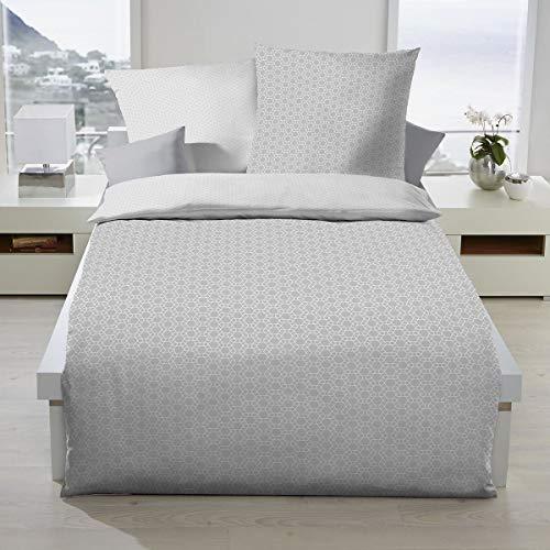 Kaeppel Biber Bettwäsche Moment grau 1 Bettbezug 155 x 220 cm + 1 Kissenbezug 80 x 80 cm