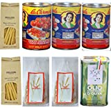 Buoni, Sani, 100% Italiani | Pasta integrale di Farro + Farro Monococcco + Pomodorini pelati + Olio Extra Vergine di Oliva in unica confezione