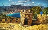 FAWFAW Rompecabezas para Niños Y Adultos 2000 Piezas, Hermosa Vista del Lago Azul En El Castillo De Cartagena, España Gran Rompecabezas De Madera 100X70Cm