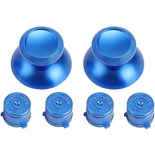 KEESIN Palo de Aluminio para el Pulgar de Repuesto, Tapa de Botones tipo Bala, Tapa de Joystick para el Controlador PS3 PS4 Azul