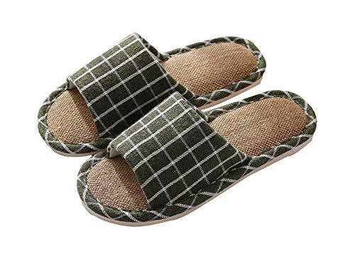 Zapatilla de lino, sandalias de casa para verano ligero transpirable, G4