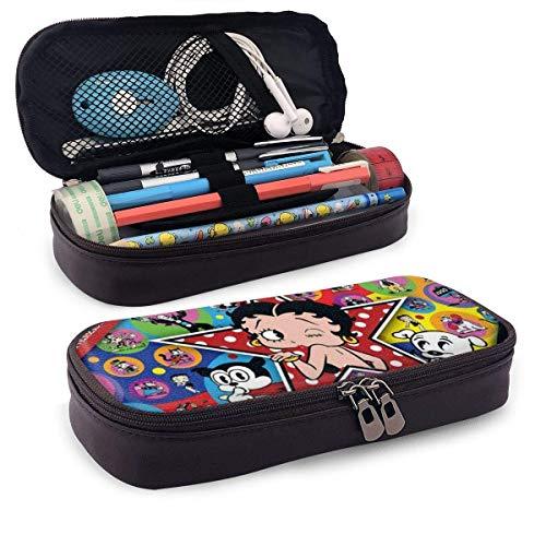 Estuche para lápices Be-Tty Bo-Op Organizador de papelería de gran capacidad Almacenamiento Bolsa de maquillaje Estuche Soporte para caja con cremallera