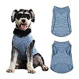 Camisa para Perros, Ropa para Perros para Perros pequeños, Ropa para Cachorros, Chaleco Ligero y Transpirable para Perros, Camisetas para Perros de Secado rápido con Etiqueta Reflectante