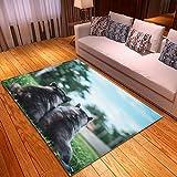 LGXINGLIyidian Alfombra Hermoso Mundo Animal Natural Alfombra Suave Antideslizante De Decoración del Hogar De Impresión 3D T-2708E 120X180Cm