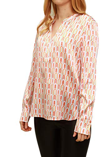 Herzensangelegenheit Blusenshirt aus Seide mit geometrischem Muster, Farbe:Mehrfarbig, Größe:42