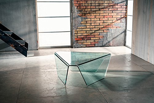 IMAGO FACTORY Tribeca - Mesa de centro de cristal curvado