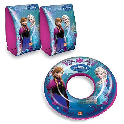 Disney Frozen Anna Elsa Schwimmset Armbänder und Schwimmring, ideal für Kinder