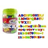 JZK Set 78x Alfabeto Letras Magnéticas y Números Magnéticos y Símbolos Matemáticos, Juguete Educativo para niños de la Escuela Primaria