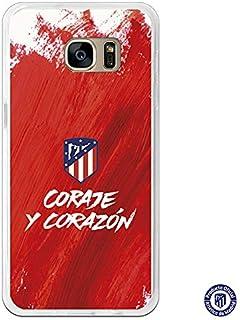 Carcasa Oficial Atlético de Madrid Coraje y corazón para Samsung Galaxy S7 Edge - La Casa de las Carcasas