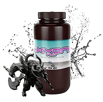 Xyon H2O WATER WASHABLE Premium Resin (500g) for LCD/DLP 3D Printers (Graphite Black)