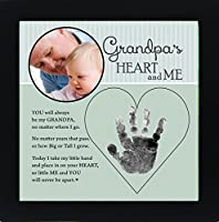 Baby Child Keepsake Handprint Frame with Poetry - Mommy, Daddy, Grandma or Grandpa (Grandpa) by The Grandparent Gift Co.