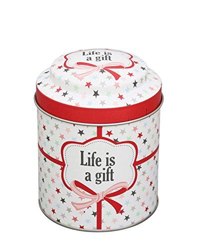 Krasilnikoff - Dose - rund Life is a Gift