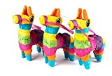 Neliblu Set of 3 Mini Donkey Pinatas 4'x7' inches, Fiesta Decorations, Cinco de Mayo Pinata, Party Favors, Party Supplies and Centerpieces