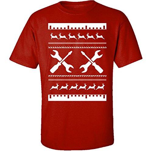 Feo Jersey de Navidad regalo para cualquier fan de mecánico–Adulto camiseta