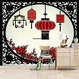 Papeles Pintados De Pared 200X150cm Farolillo Rojo Chino Papel Pintado De Pared Diseño De Paisaje Mural 3D Decoración Pared Impresión Salon Dormitorios Fotomurales