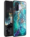 BENTOBEN Funda Samsung S20, Carcasa Samsung Galaxy S20 Cover Ultra Delgada Mandala Luminosa Resistente Silicona Suave PC Dura Protectora Completa Fundas para Samsung Galaxy S20-Mandala
