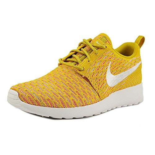 NIKE WMNS Rosherun Flyknit Schuhe Damen Sneaker Turnschuhe Gelb 704927 700, Größenauswahl:39