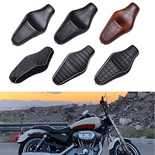 Black Motorcycle Driver Passenger Two Up Seat for Harley Sportster 883 1200 48 72