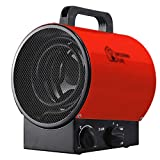 Industrial Electric Fan Heater 3000w Air Warmer with Thermostat Silent Waterproof 3 Speed