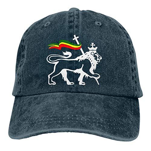 David A Beltran Rasta Lion of Judah1 Sombrero de Mezclilla Estampado Ajustable Sombreros de béisbol Vintage Casquette de Mezclilla para Hombres Mujeres