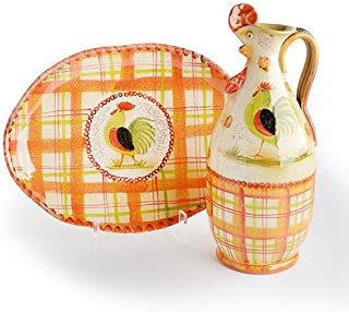 Plaid Rooster Serving Set III bundle - Handmade in Italy from our Il Canto del Sol Collection …