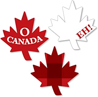 Big Dot of Happiness Canada Day - DIY Shaped Canadian Party Cut-Outs - 24 Count