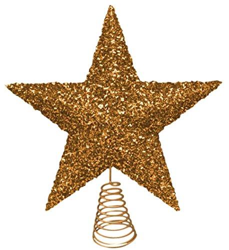 27cm oro hermoso brillante oropel Tree Top estrellas - del árbol de navidad