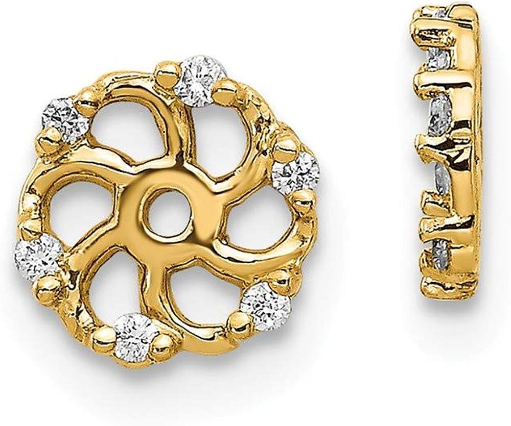 14K Diamond Earring Jacket Mountings