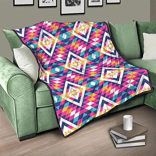 AXGM Colcha multicolor de Egipto India, Maya patrón de ropa de cama, manta con estampado para sillón, blanco, 200 x 230 cm