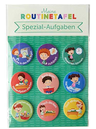 PinkMausi 9 Spezial-Aufgaben Magneten – Tolles Extra & Add-on Belohnungstafel – Magnetisch & auf Deutsch – Für Mädchen & Jungen