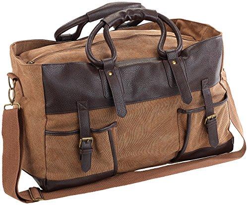 Xcase Weekender: Canvas-Reisetasche mit 2 Außentaschen und Schultergurt, 30 Liter (Canvas Handgepäck-Reisetaschen)