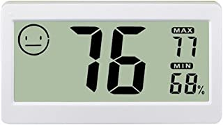 Seefoun デジタル温度計 小型 デジタル 室内 屋外 磁性吸着 冷蔵庫 高精度 温度計 湿度計 DC206