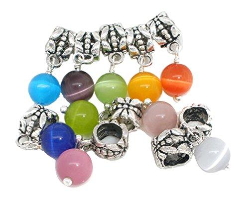 Godagoda Souarts Mixed Eye's Cat Dangle Beads for Charm Bracelet Pack of...