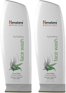 Himalaya Botanique Aloe Vera Hydrating Face Wash for Deep Cleansing and Ultra Moisturizing for Dry, Itchy Skin, 5.07 oz, 2...