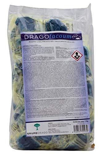 Drago Raticida Profesional para Exteriores contra Ratas y Ratones Azul Cebo Fresco...